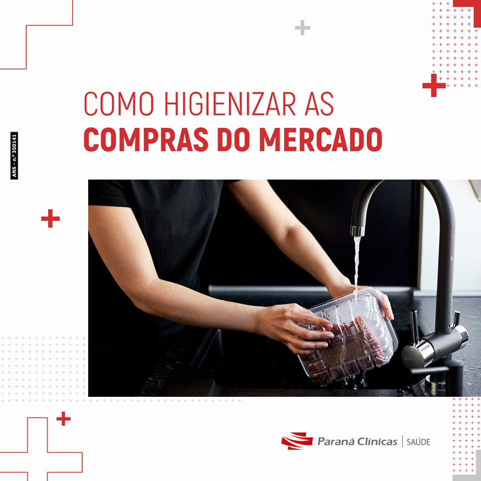 Como higienizar as compras do mercado