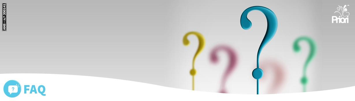 Banner com pontos de interrogação coloridos.
