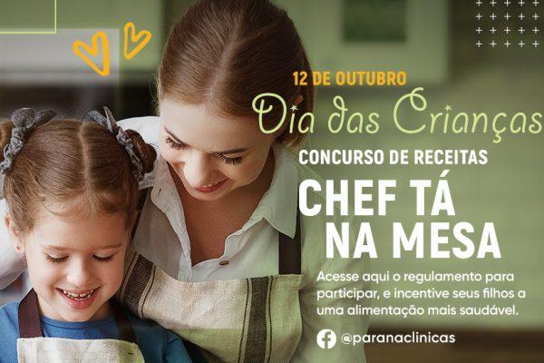Concurso Chef Tá na Mesa: inscrições prorrogadas!