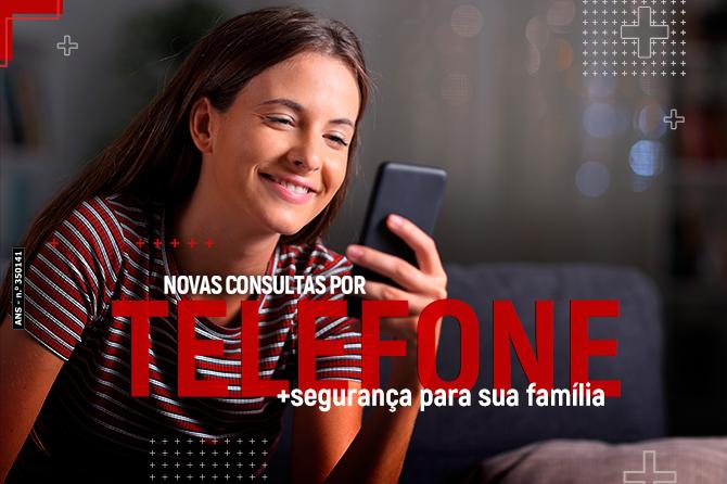 Novas consultas por telefone