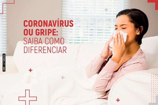 Coronavírus ou gripe: saiba como diferenciar
