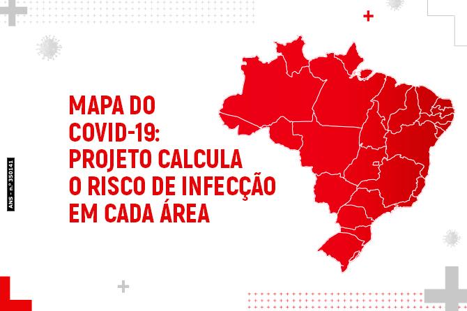 Mapa do covid-19: Projeto calcula o risco de infecção em cada área