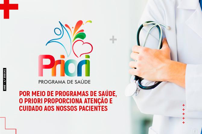 Por meio de programas de saúde, o Priori proporciona atenção e cuidado aos nossos pacientes