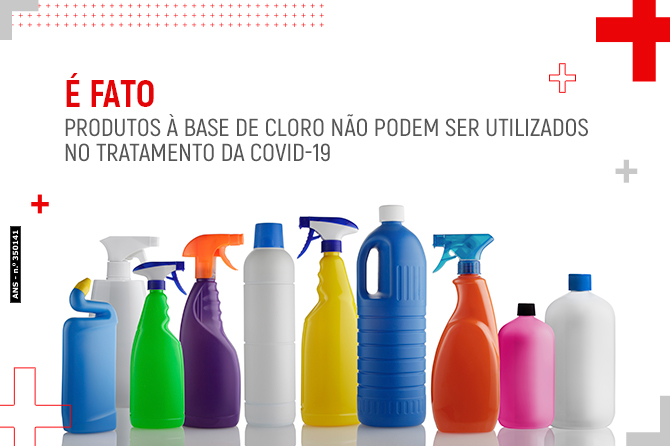 É fato: produtos à base de cloro não podem ser utilizados no tratamento da COVID-19