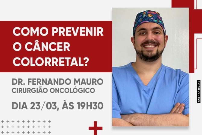 LIVE: COMO PREVENIR O CÂNCER DO COLORRETAL