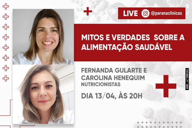 LIVE: MITOS E VERDADES SOBRE A ALIMENTAÇÃO SAUDÁVEL